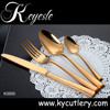 silverware set gold,gold plated dinner set,gold silver flatware