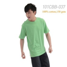 Cheap price wholesale stock colorful blank 100% cotton men short sleeve t shirts