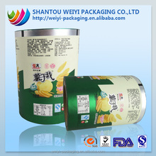 Custom laminated aluminum foil lldpe film stretch for food packaging