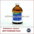 33.3% sulfadimidina de sodio antibióticos inyectables/veterinario fabricantes de productos farmacéuticos