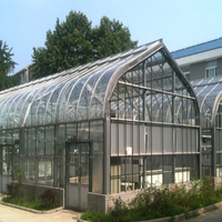 Outdoor Aluminum Tempered Glass house