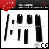 Black Spring straight pins, Slotted Pins,elastic pin coupling, Stainless