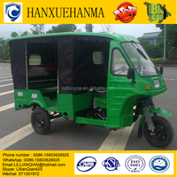 cheap 4-6 passengers closed electric motor tricycle
