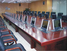 Motorized LCD Monitor lift for conference table