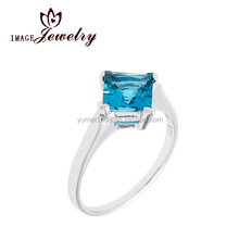 925 Sterling Silver rings for women,women fashion rings fine jewelry,Princess cut Gemstone Solitaire Ring