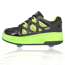 2015 High quality kids skating roller shoes one wheel or two wheels fashion skating shoes wheel roller skating shoes NO.053