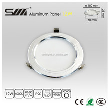 12W Brushed Silver LED Ceiling Light nature white