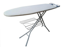 Big IRONING BOARD with iron rest and cloth rack cotton ironing board cover