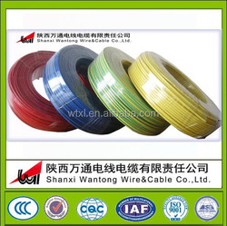 colored china copper cable products/pvc wire cable/single core electric wire