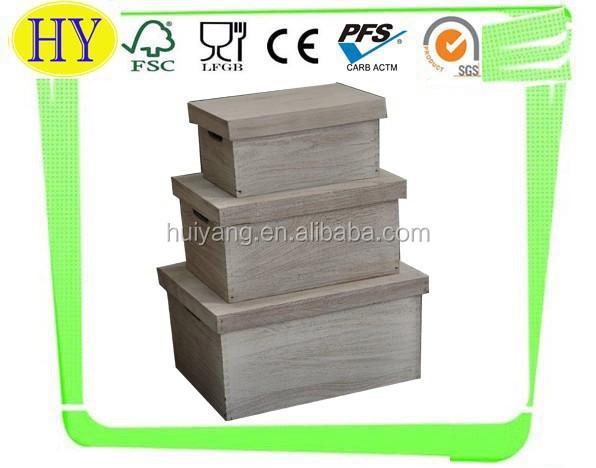 Caixa de armazenamento de madeira para venda