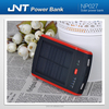 Wholesale travel rechargeable solar power bank charger for mobile devices NP027