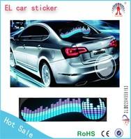 70*16cm Genuine High Quality Color Change Dance Car Music Rhythm Lamp EL Car Sticker LED Sound Activate Equalizer