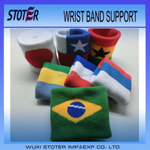 head and wrist band with flags logo for football fans