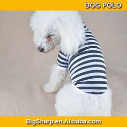 50pcs Personlized DIY cotton blank manufacturers stripe dog T-shirts polo, blank shirt pet DC-002