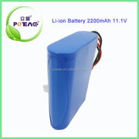 li ion battery rechargeable lithium cylinder battery 18650 12v 2200mah