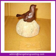 Metal Crafts / Cast iron Crafts / Cast Iron Mini Bird with a stone