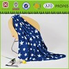 five-pointed star design blanket cheap polar fleece blanket thick polyester blanket