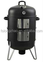 Stainless Steel Wood Pellet BBQ Grill Smoker for Meat/Fish/Corn/Food.