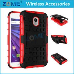 cheap for MOTO G3 with Kickstand heavy duty rugged armor hard dual layer hybrid pc + tpu mobile phone cases cover
