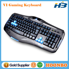 Wired Mechanical Feel Blue Backlit Gaming Keyboard V1 Factory Wholesale Direct!