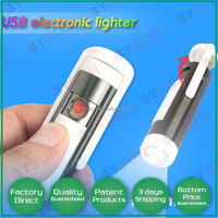 MULTIFUNCTION USB Green Electronic Flameless Cigarette Lighter LED TORCH 500PCS DHL FREE SHIPPING BS-1102