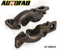 AUTOFAB - TWIN CAST IRON TURBO EXHAUST MANIFOLD T25 FLANGE FOR NISSAN 300ZX AF-EM032