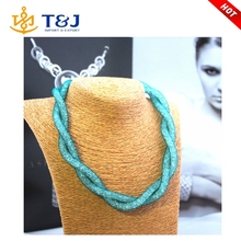 2015 Fine Jewelry Europe Colorful Candy Mesh Long Fashion Choker Necklace/