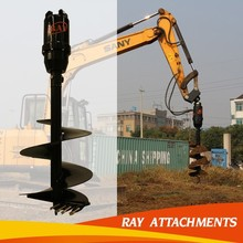Backhoe Hydraulic Auger Attachment