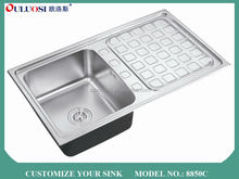 hot sale all over world foshan pearl sand finish stainless steel commercial sink cabinet 8850C