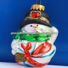 Cute christmas glass decoration supplies xmas glass ornament,credit guarantee line supplier