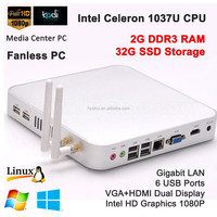 cost efficiency mini nettop computer celeron 1307u 2G RAM 32G SSD for windows 7/8 Linux