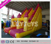 Hot! Yellow color Inflatable adults slides / inflatable slides / inflatable bounce slide for sale