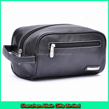 2015 new design travel men PU leather toiletry bag