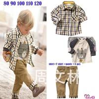 Фабрика прямой метод костюм для детей мальчиков винтажные джинсы рубашка костюм футболка в трех сетах брюки для мальчиков