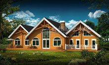 Charming Wooden solid pine villa with good quality luxury wooden villas