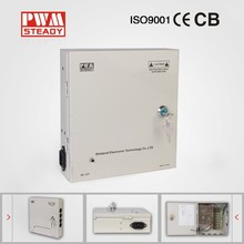 metal box power supply, DC 12V 5A 9CH CCTV Power Supply / switching power supply for cctv camera