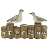 Promotional Item Two Seagulls Decorative Resin Welcome Sign
