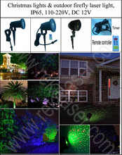 Christmas waterproof outdoor laser light IP65 elf light with CE, RoHS, FCC, UL and SGS certificates