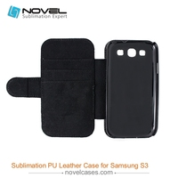 2015 Deluxe vintage flip sublimation pu leather phone case for Samsung S3
