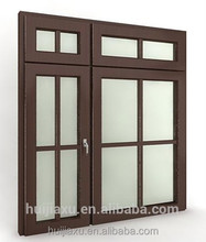Power coated aluminum door ,ground glass door for the house