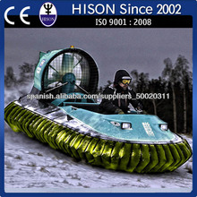la nueva temporada de descuento de agua del río buque anfibio aerodeslizador