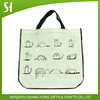High quality wholesale Custom logo cute cat cartoon comic pp non woven tote Hand bag laminate for grocery package advertising