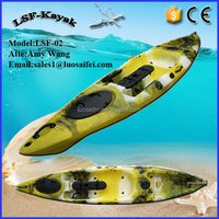 Single fishing plastic kayak and boat