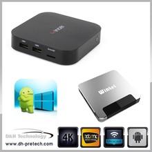 android 4.4 wintel box dual system tv box quad core 2015 best android MINI pc tv box
