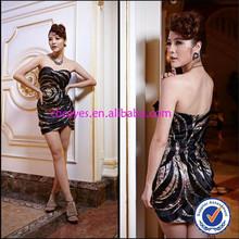cy61887 del hombro corto de cuentas personalizar sexy dama de la moda de vestir