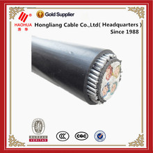 0.6/1kV (3+2)-core aluminum conductor pvc insulated thin steel wire armoured pvc sheathed power cable ,kabel