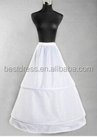 walson instyles wholesale New 2 hoop white petticoat Crinoline Underskirt for bridal wedding dress Gown