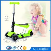 wholesale hot sale three wheel self balancing best kick scooter for kids, Micro mini wheel frog self balancing scooter with seat