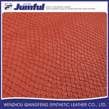 Eco-friendly embossed stingray leather,pu synthetic leather for shoes