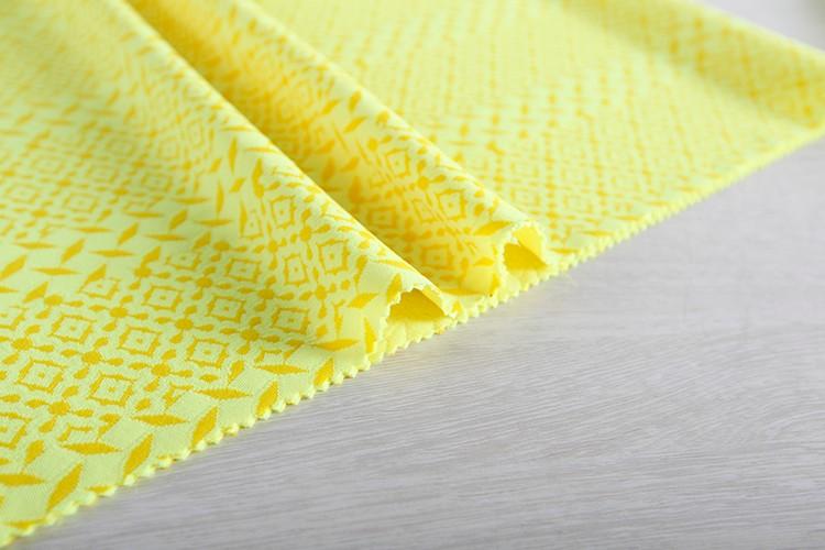오싱 공급 100% 폴리 양이온 뜨개질 자카드 연동 직물 판매